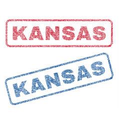 Kansas textile stamps vector