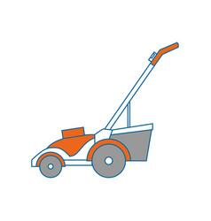 Lawn mower gardening vector