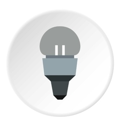 Led lamp icon flat style vector