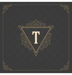 Luxury logo template flourishes calligraphic vector