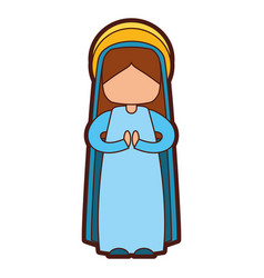 mary virgin manger character vector image vector image