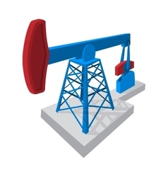 Oil pump cartoon icon vector