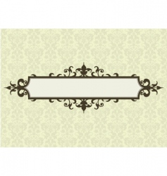 Ornate frame and floral pattern vector