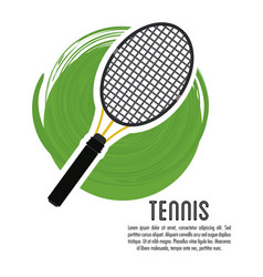 Racket of tennis sport design vector