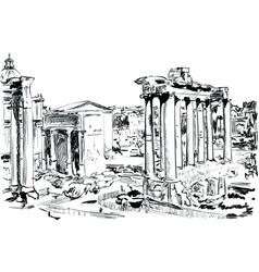rome vector image vector image