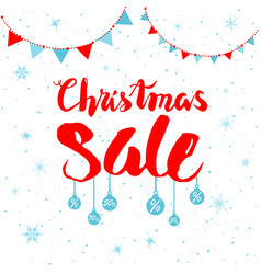 sale winter and flags vector image vector image
