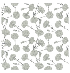 Seamless pattern of cloves vector image