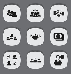 set of 9 editable job icons includes symbols such vector image