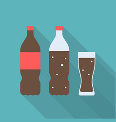 set of soft drink icon vector image