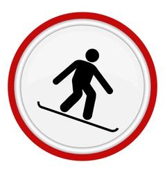 snowboarding icon vector image