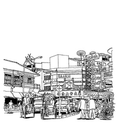 Street life sketchbook vector image