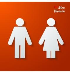 Toilet label vector