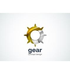 Gear logo template hi-tech digital technology vector
