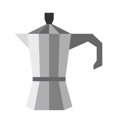 Steel coffee pot icon flat style vector