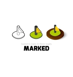 Marked icon in different style vector image