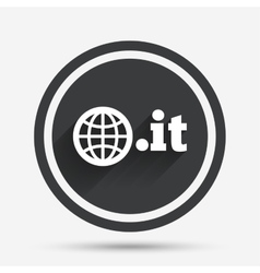 Domain IT sign icon Top-level internet domain vector image