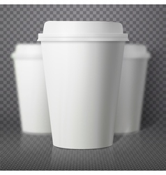 Coffee cup photorealistic eps10 paper coffee cup vector