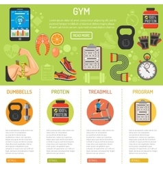 Fitness and gym infographics vector image