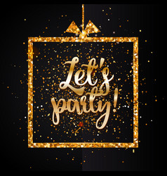 Lets party banner vector