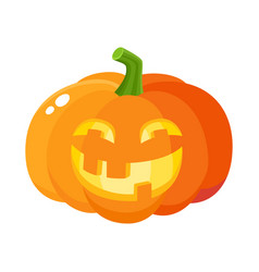 Laughing happy pumpkin jack-o-lantern with funny vector