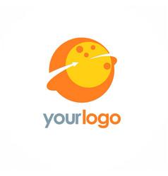 Planet round arrow logo vector