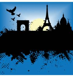 Paris scene vector