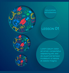 school abstract infographic concept vector image