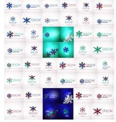 Mega collection of Christmas and winter design vector image
