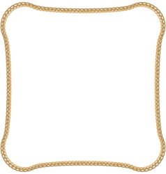Golden Chain Isolated on White Background vector image