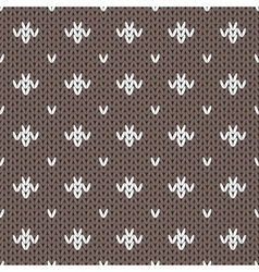 Abstract knitted seamless pattern background vector