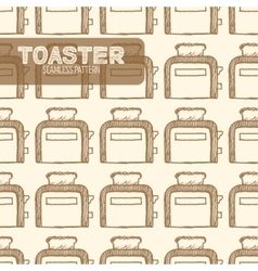 Toaster vintage style vector
