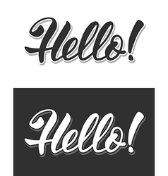Hello sign vector