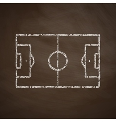 Playing field icon vector