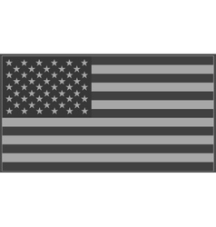 Us flag grey vector