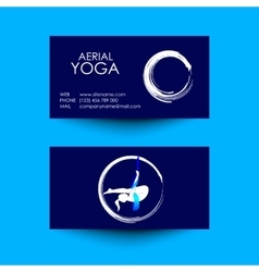 Business card of aerial yoga studio vector