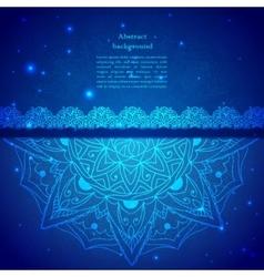 Blue Indian Vintage Ornament vector image