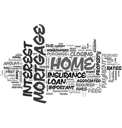 A summary of mortgage fees text word cloud concept vector