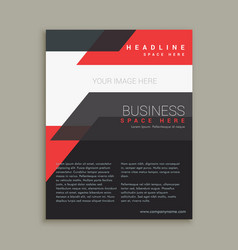abstract business style red black brochure vector image vector image