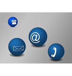 Balls with communication symbols vector image vector image
