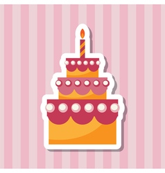 Birthday cake backing vector