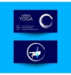 Business card of aerial yoga studio vector