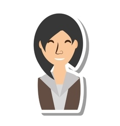 businesswoman avatar elegant isolated icon vector image