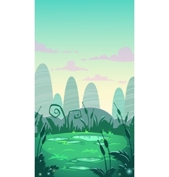 Cartoon vertical landscape vector