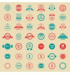 Colored Vintage Badges and Labels vector image