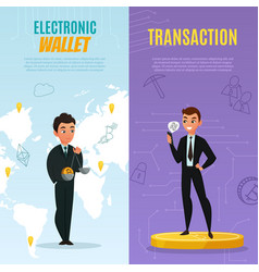 Cryptocurrency banners set vector