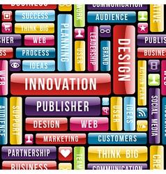 Design innovation concept pattern vector image vector image