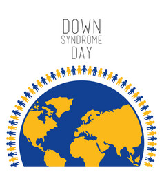 Down syndrome day people around world symbol vector