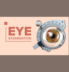 eye test banner correction device vector image vector image
