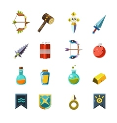 Flash game inventory set vector