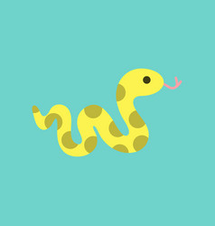flat icon on background reptile snake vector image vector image